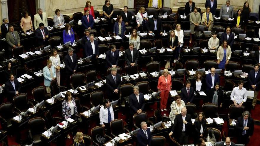 Vista general de una sesión del Congreso argentino en Buenos Aires (Argentina).