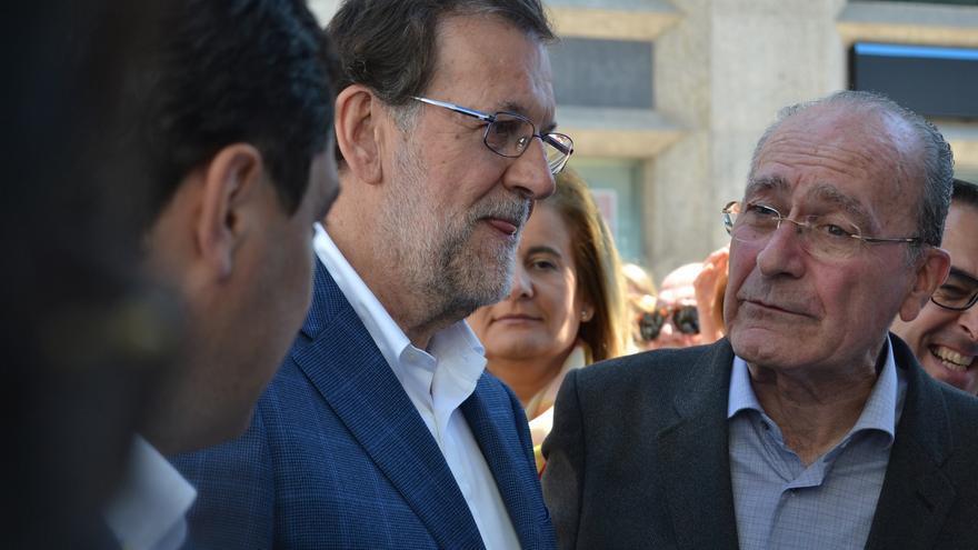 Francisco de la Torre, con Fátima Báñez y Mariano Rajoy, durante una visita reciente del presidente del Gobierno | Foto: Néstor Cenizo