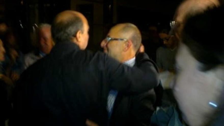 Francisco Rodríguez, alcalde de Ourense, a la salida del juzgado Pokémon