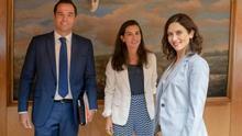 Ignacio Aguado, Rocío Monasterio e Isabel Díaz Ayuso en una imagen de archivo.