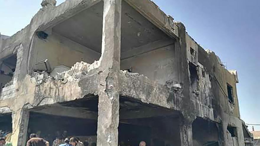 Hospital pediátrico apoyado por MSF en Idlib (Siria) destruido por el bombardeo | FOTO: MSF