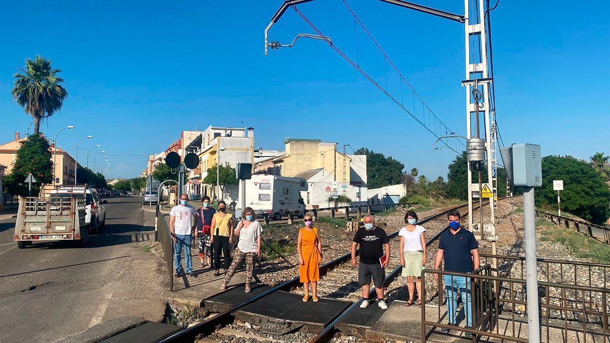 Las vías del tren en Alcolea.