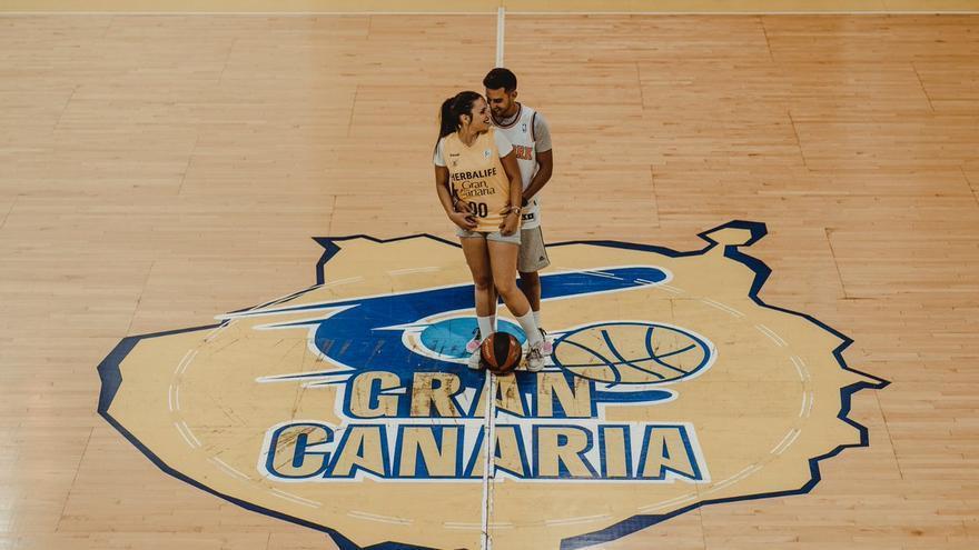 Tamara y Fernando en el Gran Canaria Arena
