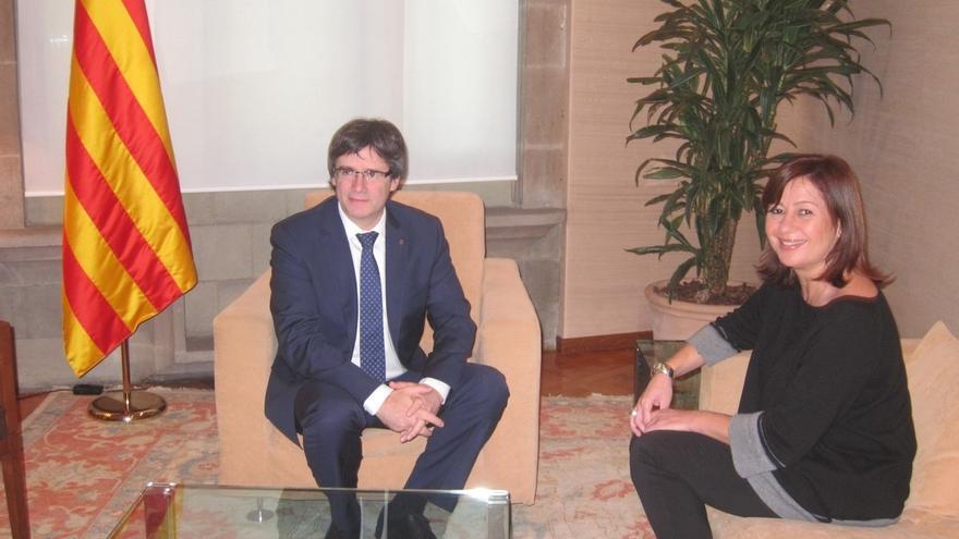 """Armengol pide a Rajoy afrontar el conflicto con Cataluña con """"política y diálogo"""""""