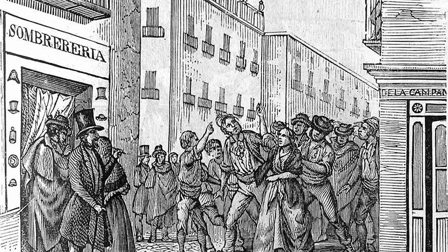Motín carlista durante la procesión del Corpus, Sevilla (1834). / PANORAMA ESPAÑOL