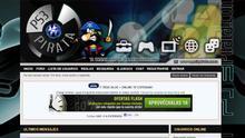 Captura que muestra la apariencia que la página web ps3pirata.com en 2012.