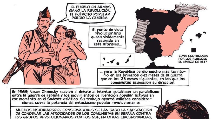 Una de las páginas del cómic