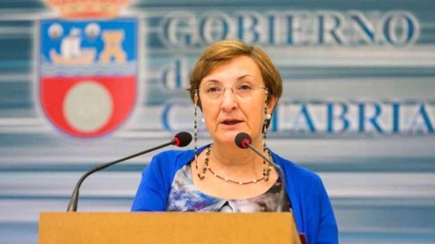 María Luisa Real, consejera de Sanidad de Cantabria.