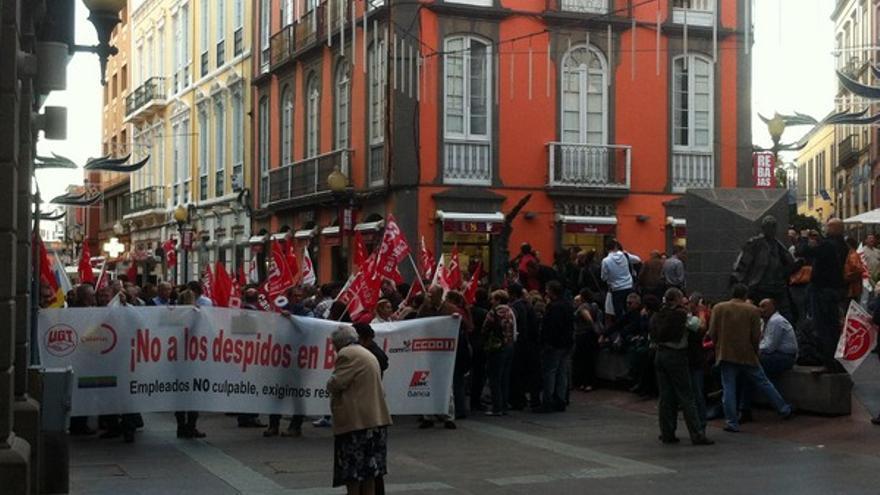 Protesta de empleados de Bankia en LPGC #6