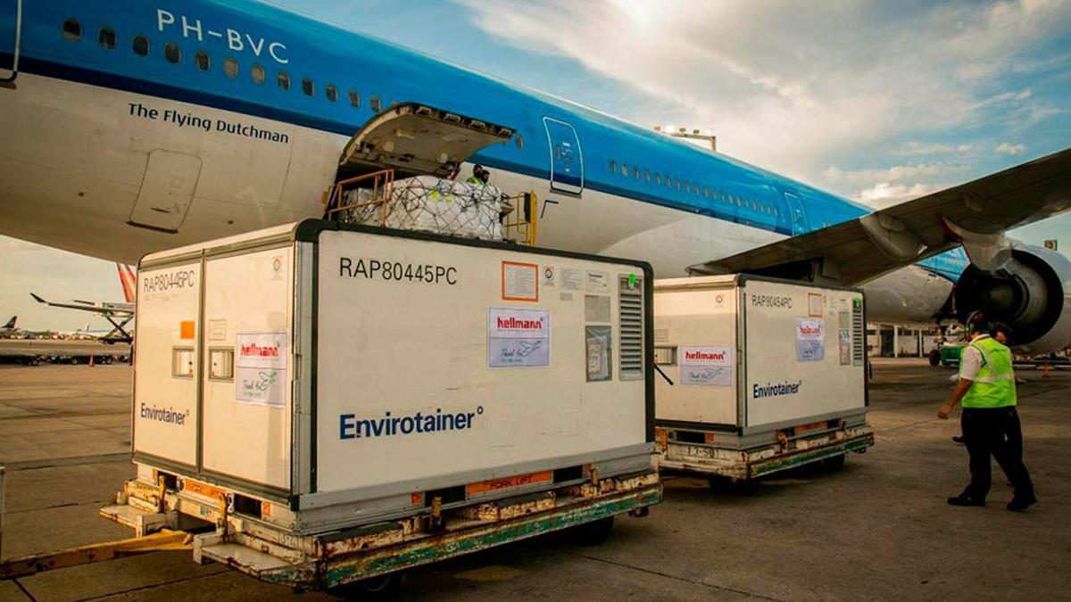 El cargamento de Sinopharm arribado este sábado