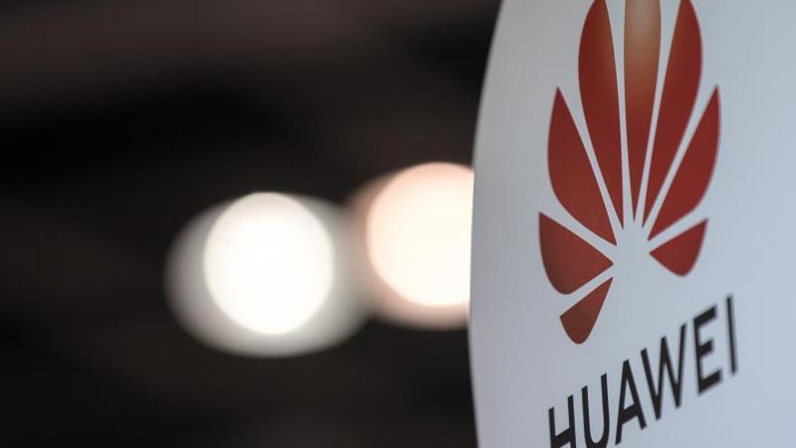 Detalle del logo de Huawei Technologies Co.