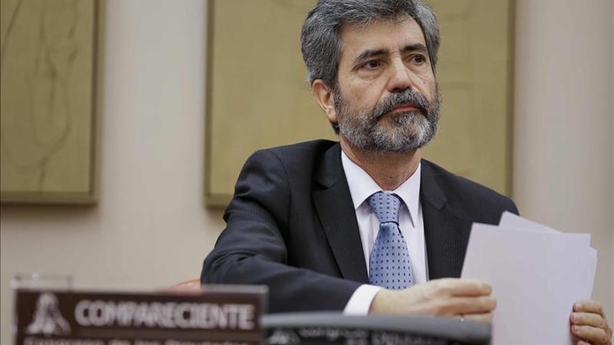 Lesmes dice a los magistrados que pueden pedir amparo por las críticas como las de F.Díaz