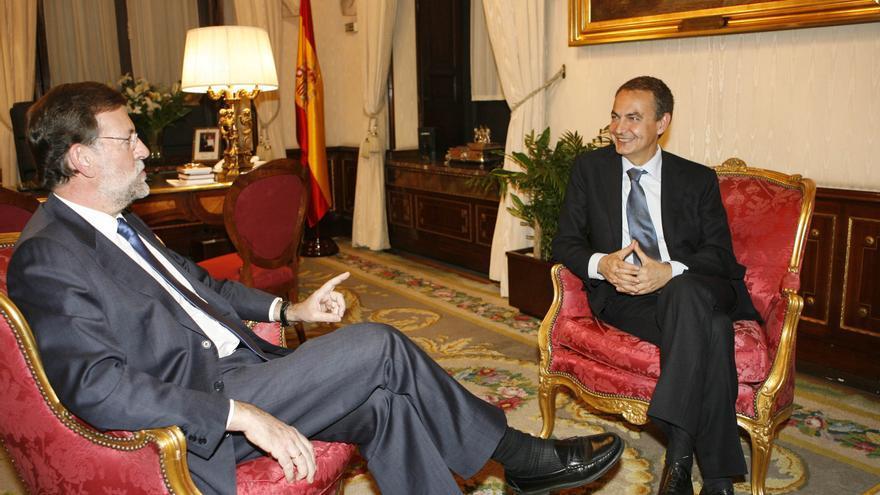 Reunión de Rajoy y Zapatero cuando el socialista era presidente del Gobierno