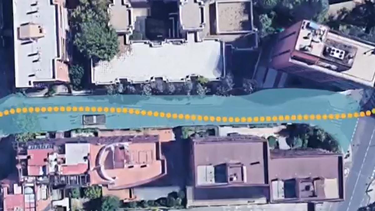 Zona peatonalizada que proponen las familias del colegio Ignacio Zuloaga