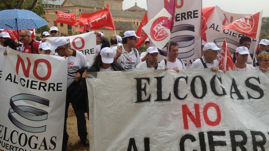 Manifestación Elcogás en Toledo, 19/9/14 / Foto: CCOO