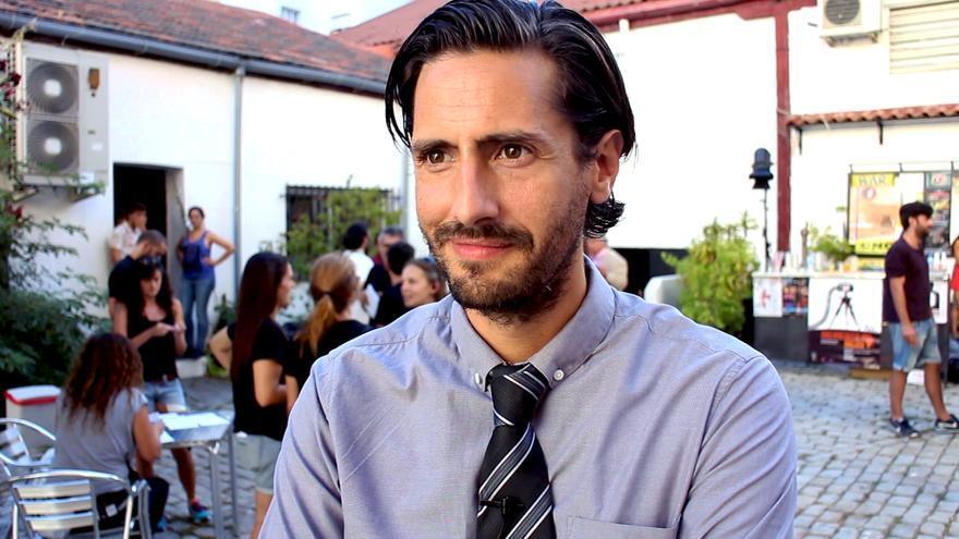 Juan Diego Botto entrevistado por eldiario.es durante el rodaje de 'Hablar'
