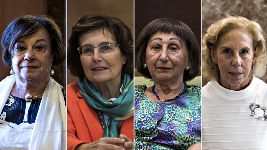 Teresa de Pedro, Carmen Asens, Tarsy Carballas y Ana María Vieitez.