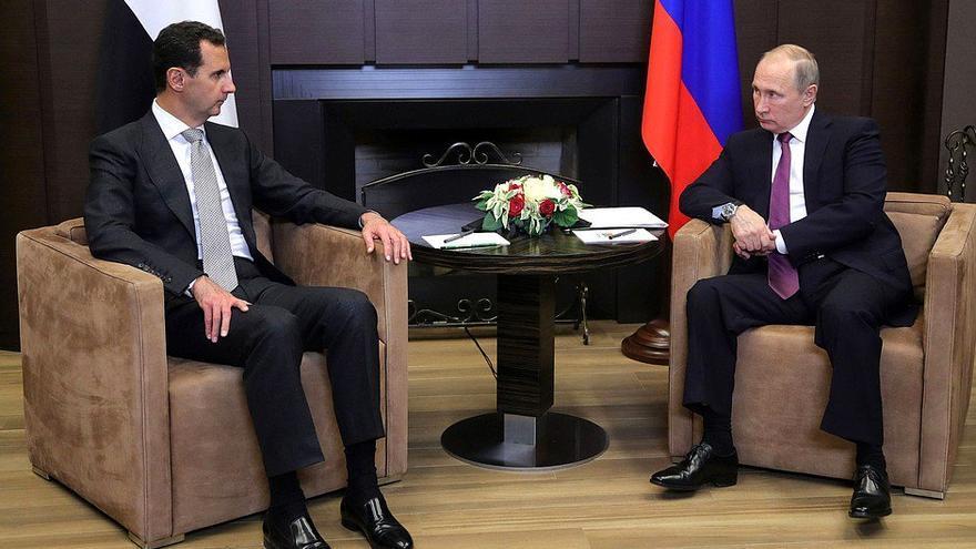 Putin y Asad durante la reunión del pasado 20 de noviembre.