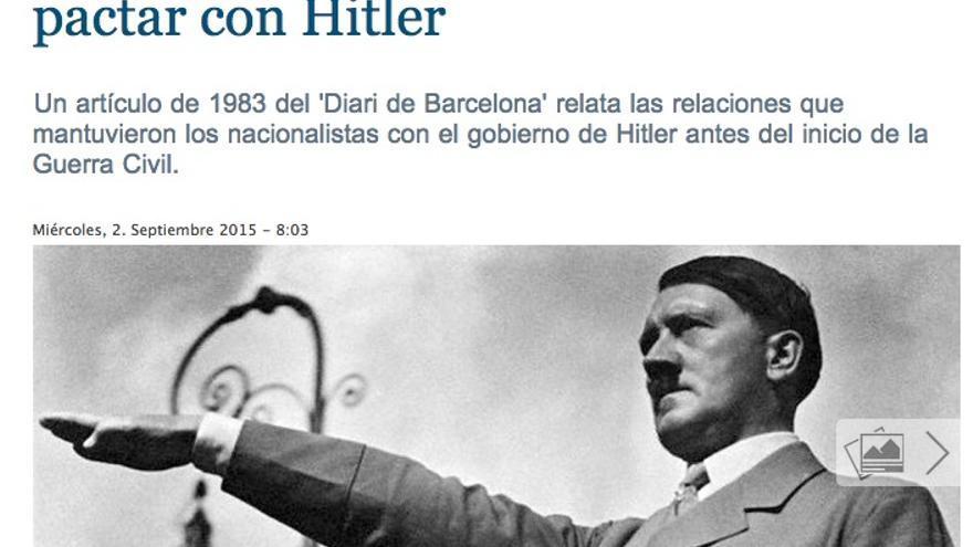 Hitler en La Gaceta