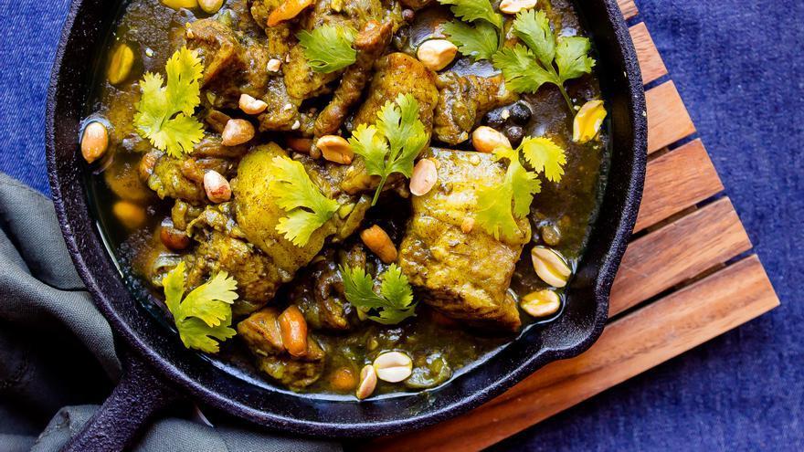 Curry de cerdo al coco
