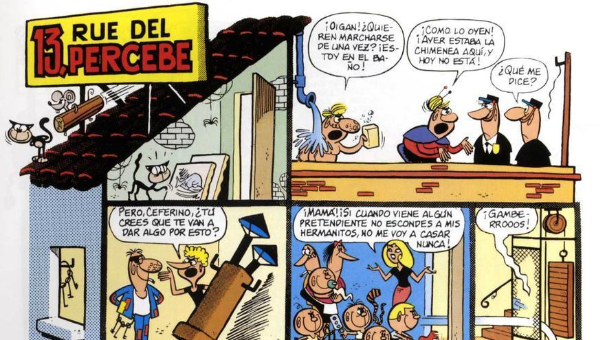 Primera página de '13, Rue del Percebe', aparecida en la revista 'Tio Vivo', el 6 de marzo de 1961
