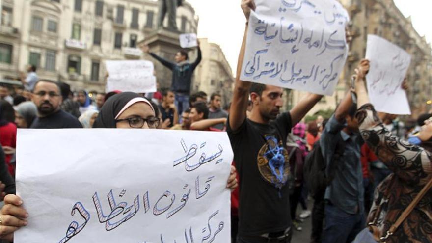 Nuevas protestas en Egipto contra la ley que limita derecho de manifestación