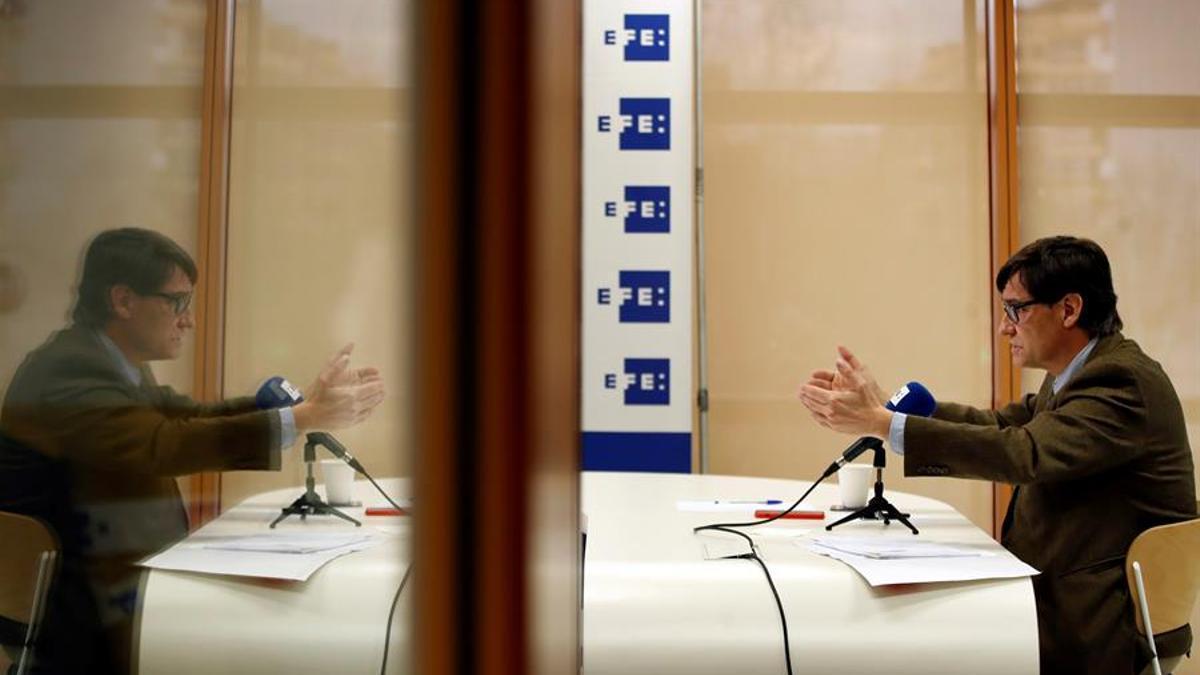 El cabeza de lista del PSC en las elecciones catalanas del 14 de febrero, Salvador Illa.