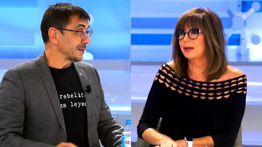 Juan Carlos Monedero y Ana Rosa Quintana en 'El programa de AR'
