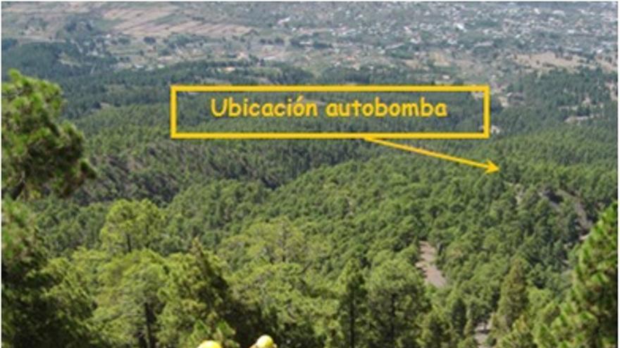 En la imagen, tendido Forestal de largo alcance en el cortafuegos Lomo Gordo-Ladera Sur Bejenado. Foto: José Heriberto Lorenzo Pérez.