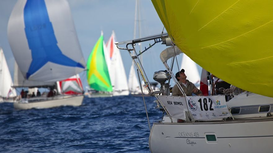 Comienzo de la ARC 2010. World Cruising Club. Photo: Nick Farrell