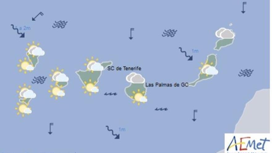 Mapa con la previsión meteorológica de este jueves, 25 de mayo de 2017