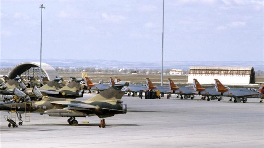 Se estrella un F-16 griego en la base aérea de Los Llanos, en Albacete