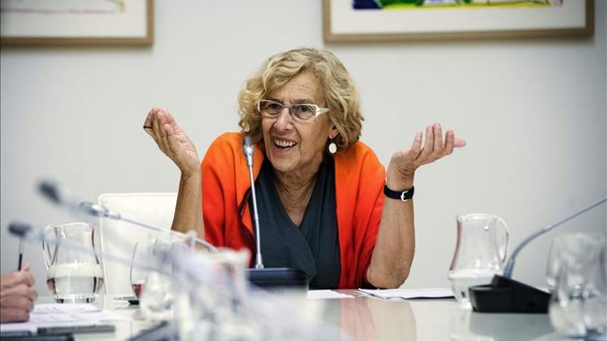Manuela Carmena, en una Junta de Gobierno municipal.