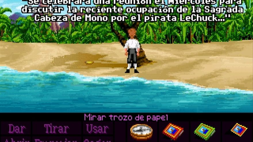 Una captura de Monkey Island