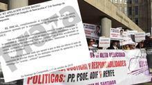 Víctimas de Angrois ante los juzgados de Santiago y escrito del fiscal