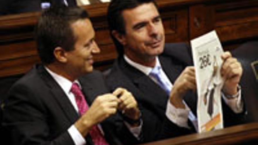 José Miguel Ruano y José Manuel Soria, los que más saben del 'traje a la medida' de la Guanchancha.