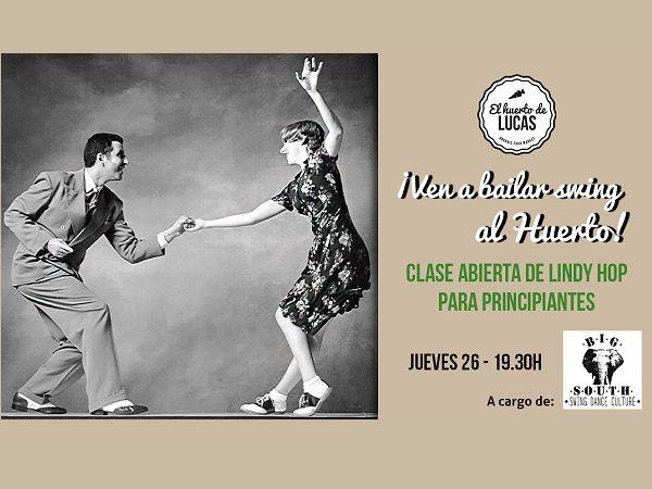 Cartel clases Lindy Hop en El Huerto de Lucas