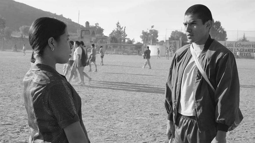 Yalitza Aparicio y Jorge Antonio Guerrero en 'Roma'