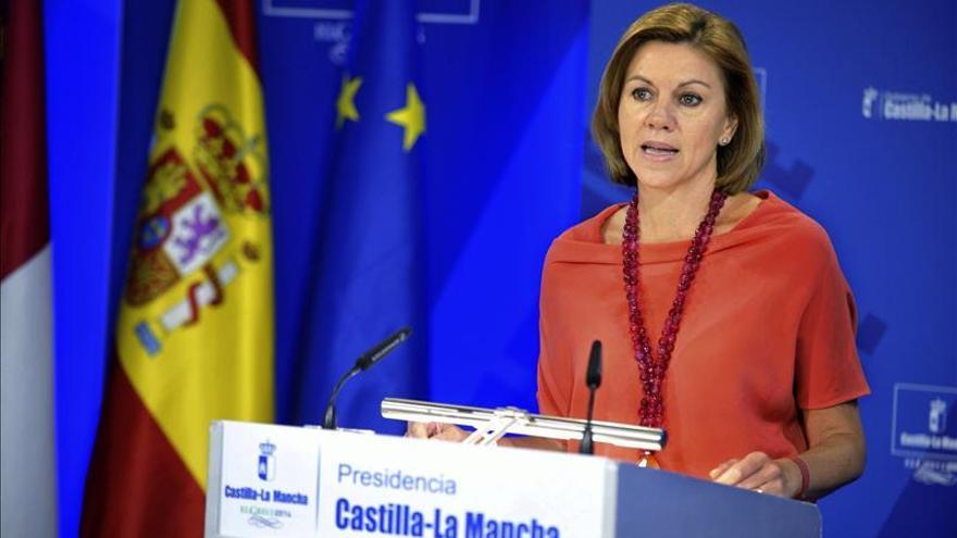 Cospedal recuerda que España se basa en la solidaridad entre ciudadanos