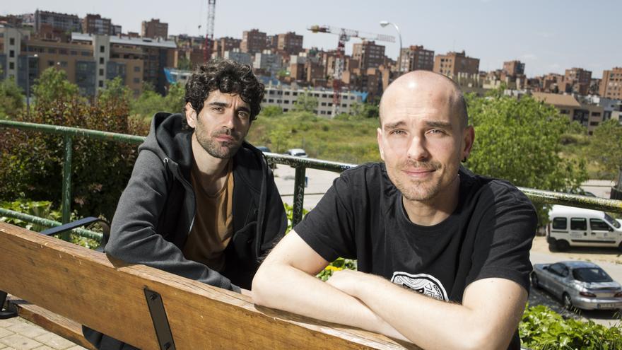 """Adrián Orr (izquierda) y David Ransanz, director y protagonista de """"Niñato"""""""