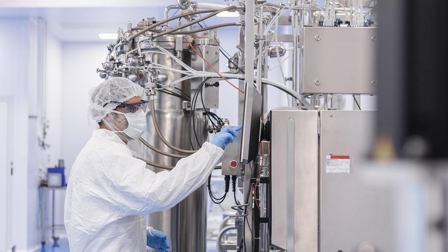 Instalaciones de la compañía biotecnológica 3P Biopharmaceuticals en Noain (Navarra)