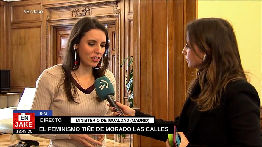 Irene Montero en ETB