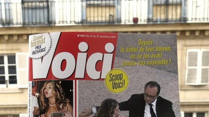 Condenada a pagar una multa la revista que publicó fotos de Hollande y Gayet