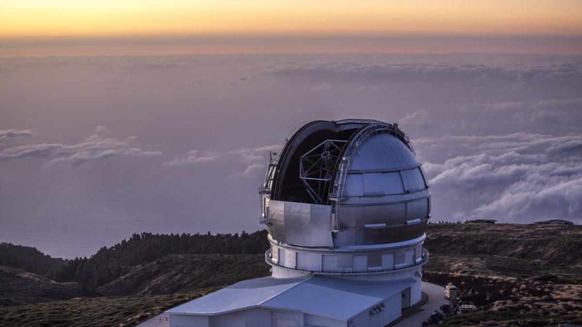 El Gran Telescopio de Canarias, en el Observatorio del Roque de Los Muchachos, en las cumbres de Garafía. IAC