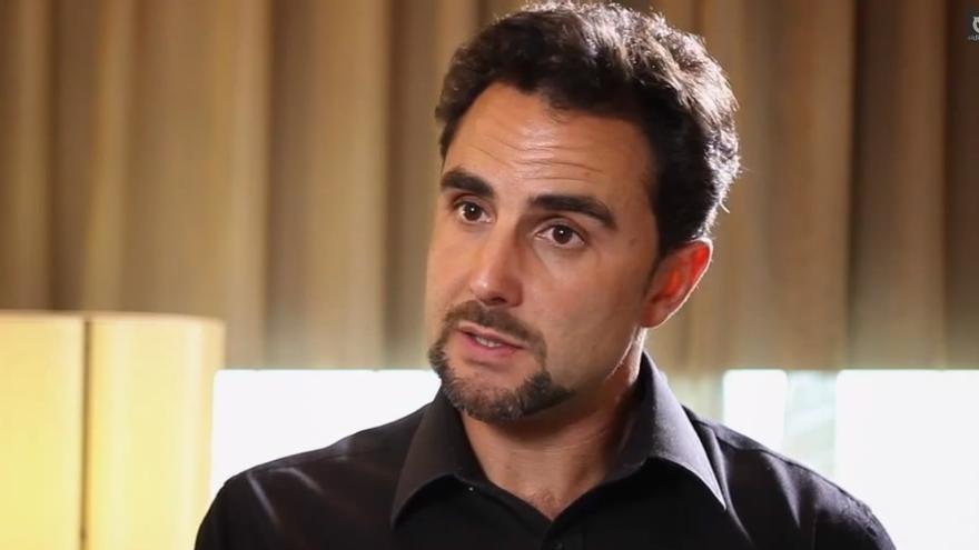 Hervé Falciani en un momento de la entrevista con eldiario.es