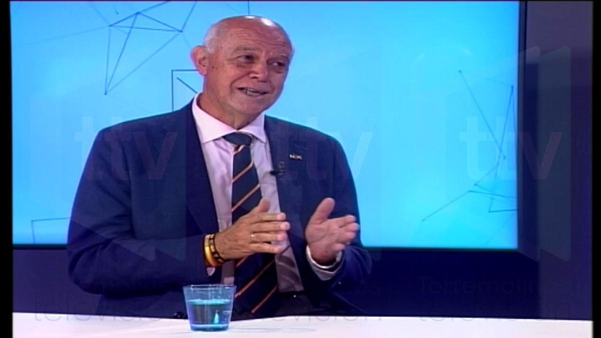 El dimitido, en una reciente entrevista en Torremolinos TV