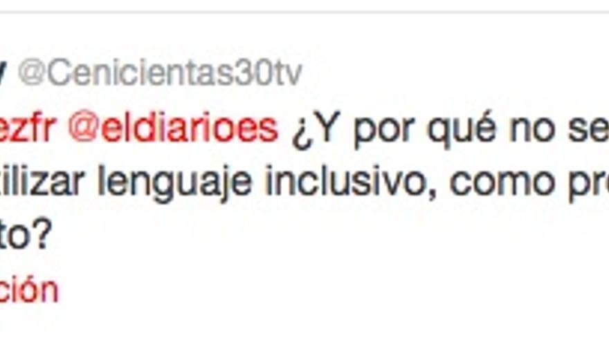 Mensaje de un grupo de internautas a eldiario.es