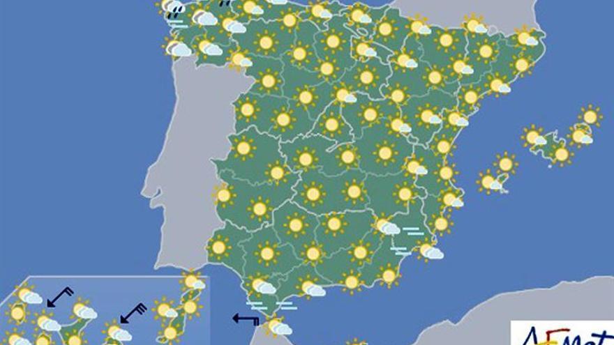 Las temperaturas suben hoy en todo el país