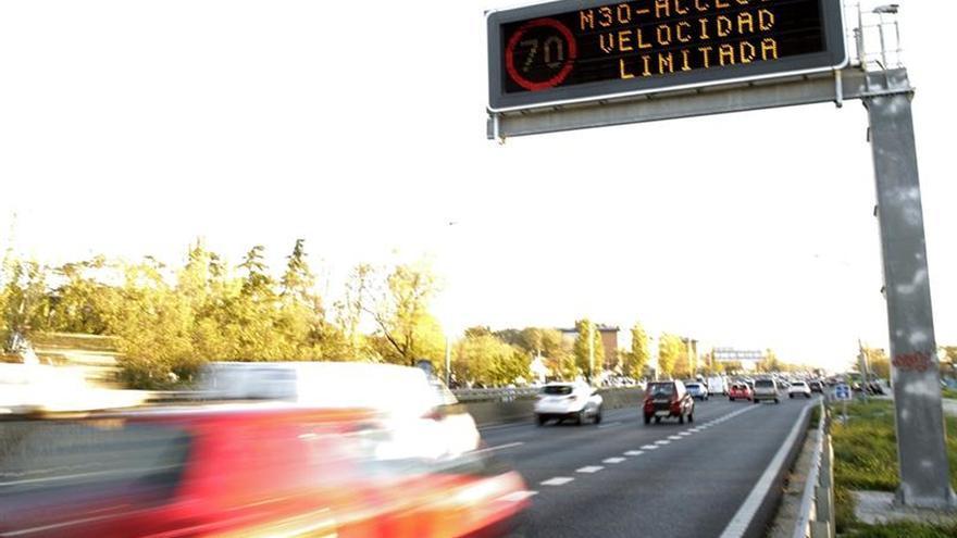 Madrid levantará a medianoche el límite de velocidad por alta contaminación