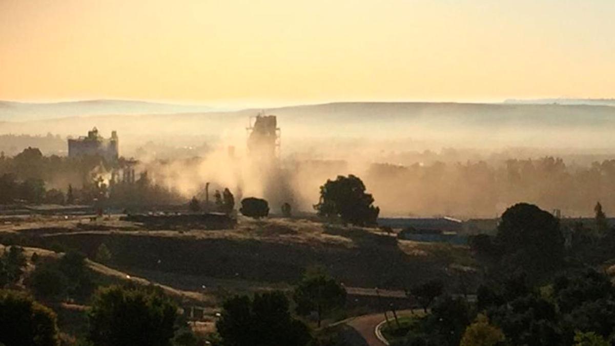 Nube de polvo en la fábrica de Cosmos.